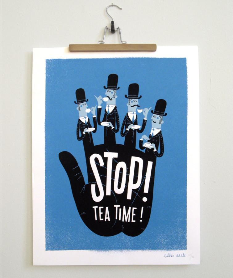 StopTeaTime_poster_EstherAarts_800x953